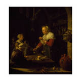 Seller of Spices, 1672 Giclee Print by Gerrit Dou