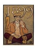 Golf Calendar, Poster, 1899 Giclee Print by Edward Penfield