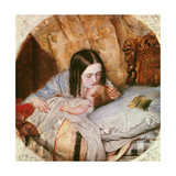 The Good Night Kiss Giclee Print by Edward Robert Hughes