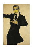Portrait of Max Oppenheimer Giclee Print by Egon Schiele