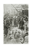 Victor Hugo Hails a Universal Republic During a Speech While in Exile on 1st August 1852 Giclee Print by Frederic Lix