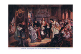 News of the Landing of the Prince of Orange Giclee Print by Edward Matthew Ward