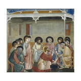 Washing of Feet, Detail from Life and Passion of Christ Giclee Print by  Giotto