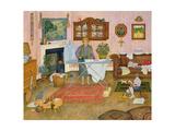 Hilda Nekuda's Ironing Day Giclee Print by  Ditz