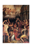 The Lapidation of St Stephen, 1573 Giclee Print by Giorgio Vasari