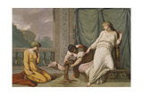 Scene from the Myth of Cupid and Psyche Showing Venus Ordering Psyche to Separate Seeds Giclee Print by Felice Giani