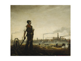 Allotments, East Ham Giclee Print by Christopher Richard Wynne Nevinson