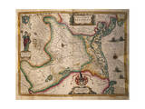 Map of Paduan Domain from Theatrum Civitatum Et Admirandorum Italiae Giclee Print by Joan Blaeu