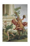 Nymph Corsica Chased by Satyr That Pulls Away Her Wig, 1645-1650 Giclee Print by Giulio Carpioni