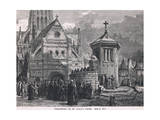 Preaching at St Paul's Cross Giclee Print by John Fulleylove