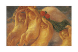 Putti with Wreath, 1906-1908 Giclee Print by Gaetano Previati