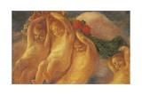 Putti with Wreath, 1906-1908 Giclee Print by Gaetano Previati