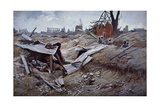 First Battle of the Somme Giclee Print by Francois Flameng