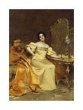Actress Virginia Reiter, 1896 Giclee Print by Giacomo Grosso