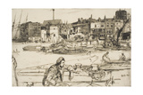 Black Lion Wharf, from 'A Series of Sixteen Etchings of Scenes on the Thames', 1859 Giclee Print by James Abbott McNeill Whistler