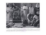 Zedekiah Is Blinded and Taken to Babylon 586 BC Giclee Print by Jose Villegas Y Cordero