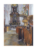 Interior of St. Michaelis in Hamburg, 1890 Giclee Print by Gotthardt Johann Kuehl