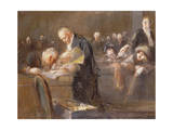 Scene at the Tribunal: the Convicting Evidence Giclee Print by Jean Louis Forain