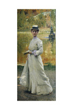 Open-Air Portrait or Lady in the Garden, 1902 Giclee Print by Giacomo Grosso