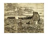 Sailors Resting Giclee Print by Giovanni Fattori