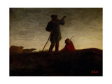 Recalling the Flock, C.1870 Giclee Print by Jean-François Millet