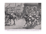 General Ian Hamilton's Return to Pretoria: His Force Marching Past Lord Roberts, July 30, 1900 Giclee Print by Gordon Frederick Browne