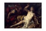 Tarquin and Lucretia Giclee Print by Johann Michael Rottmayr