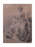 Study of a Woman's Costume, 1744 Giclee Print by Hubert Francois Gravelot