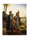 Abraham Turning Away Hagar Giclee Print by Horace Vernet