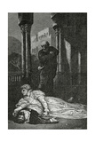 Dona Sol Dies on Hernani'S Corpse, 19th Century Giclee Print by Francois Nicolas Chifflart