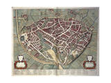 Map of Viterbo from Theatrum Civitatum Et Admirandorum Italiae Giclee Print by Joan Blaeu