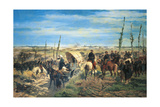 Second War of Independence - the Italian Field at the Battle of Magenta, 4 June 1859 Giclee Print by Giovanni Fattori