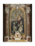 Madonna of the Rosary with Saints Dominic and Rose, 1740 Giclée-tryk af Jacopo Amigoni