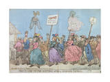 Procession to the Hustings after a Successful Canvass Giclee Print by James Gillray