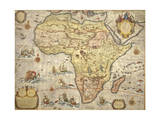 Map of Africa in 1686 Giclee Print by Joan Blaeu