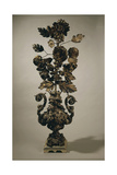 Silver Centerpiece with Flower Shaped Decoration, 1671 Giclée-Druck von Giovan Domenico Vinaccia