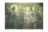 Christ Among Apostles Giclee Print by Gaetano Previati