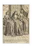 Dogaressa's Dress, Taken from Outfits of Venicen Men and Women Giclee Print by Giacomo Franco