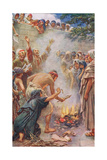Burning the Books Giclee Print by Harold Copping