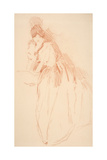 Full Length Woman with Obscured Hands Giclee Print by John White Alexander
