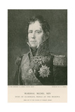 Marshal Michel Ney Giclee Print by Francois Gerard