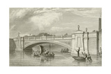 The King's Bridge in Dublin Giclee Print by George Petrie
