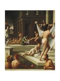 Baths of Pozzuoli Giclee Print by Girolamo Macchietti