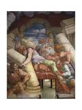 Frescoes in Chamber of Giants Giclée-tryk af Giulio Romano