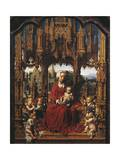 Madonna with Child and Angel Musicians, Central Panel of Malvern Triptych Giclee Print by Jan Gossaert
