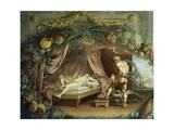 Having Killed Semele, Giobe Saves Baby Dionysus by Hiding Him in His Thigh Giclee Print by Jean Boulanger