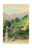 From Our Garden in Nikko Mountain Looking Toward Nan-Tai-San Whose Outline Is Rounded by Fog Giclee Print by John La Farge