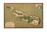 Map of Madagascar, 1766 Giclée-tryk af Jacques-Nicolas Bellin
