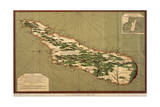 Map of Madagascar, 1766 Giclee Print by Jacques-Nicolas Bellin