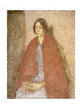 Young Woman in a Red Shawl, C.1910-1920 Giclee Print by Gwen John
